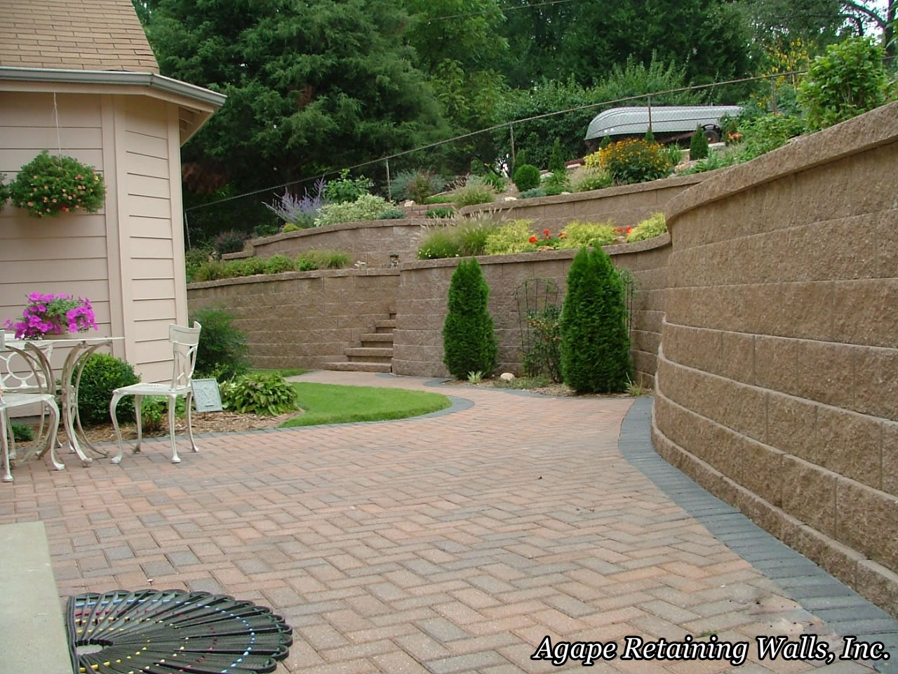 Retaining Wall Backyard Images : agape retaining walls inc built these retaining walls in kirkwood