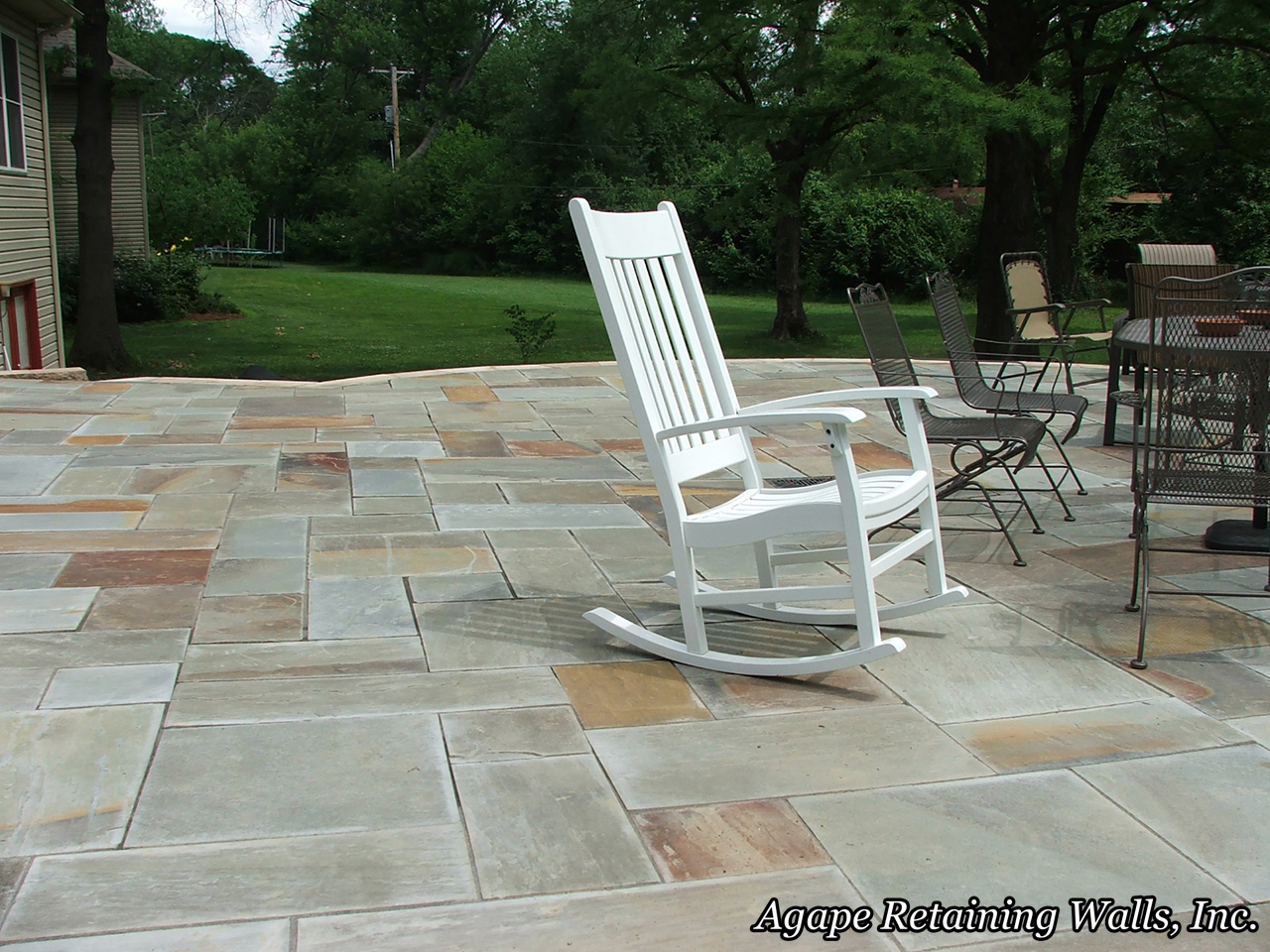 ... Natural Stone Paver Patio To A Long Line Of Incredible Hardscape  Projects We At Agape Retaining Walls, Inc. Have Designed And Installed Over  The Years.