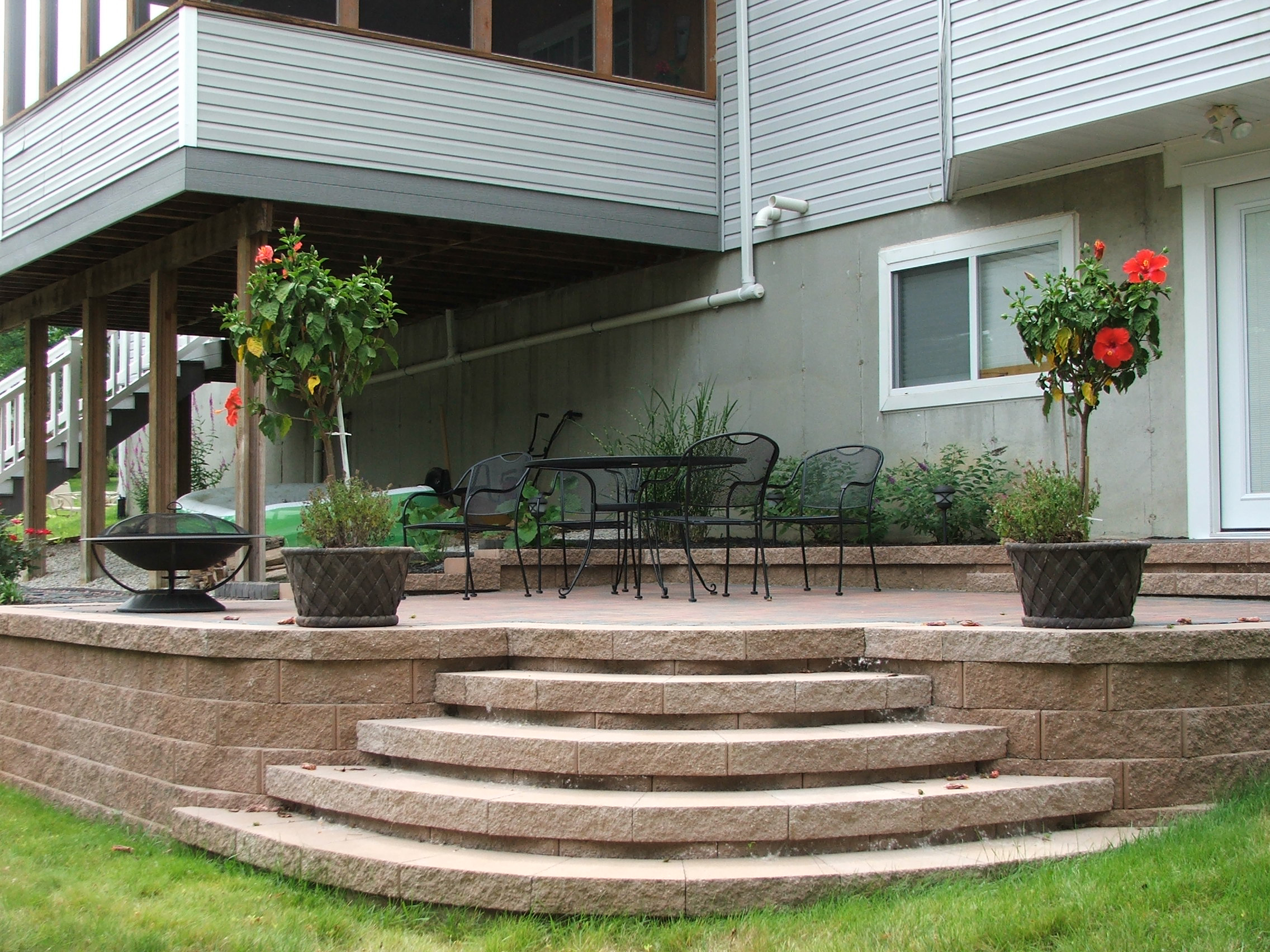 ... Curved Steps To Paver Patio ...