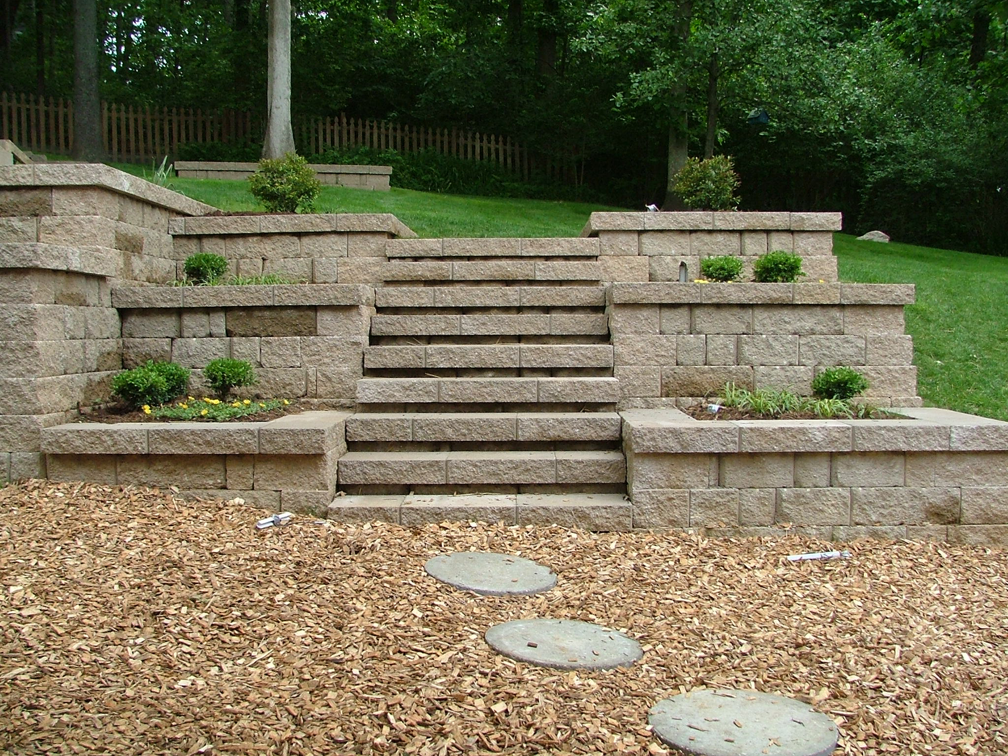 how to build retaining wall steps