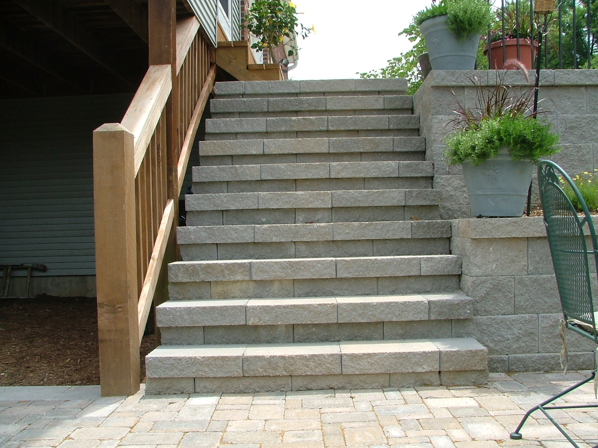 These Rockwood Retaining Wall concrete block steps in Valley Park, Missouri  were designed and installed by us at Agape Retaining Walls, Inc. How many  other ...