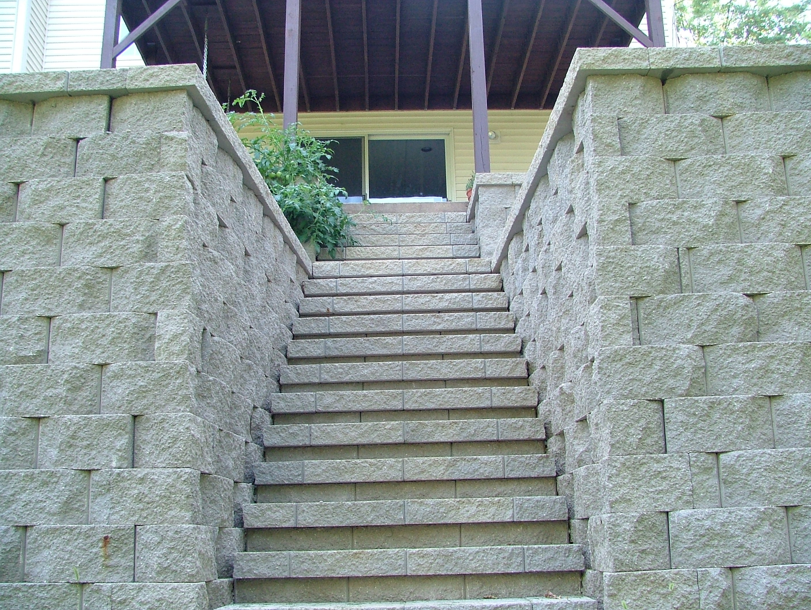 Retaining wall steps album 4 for Split wall