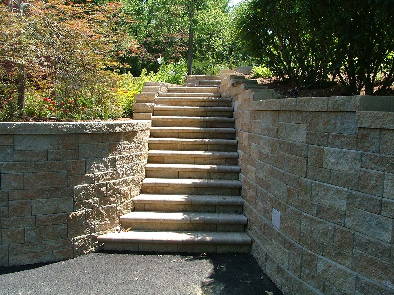 Landscaping Wall Steps : Retaining wall steps album