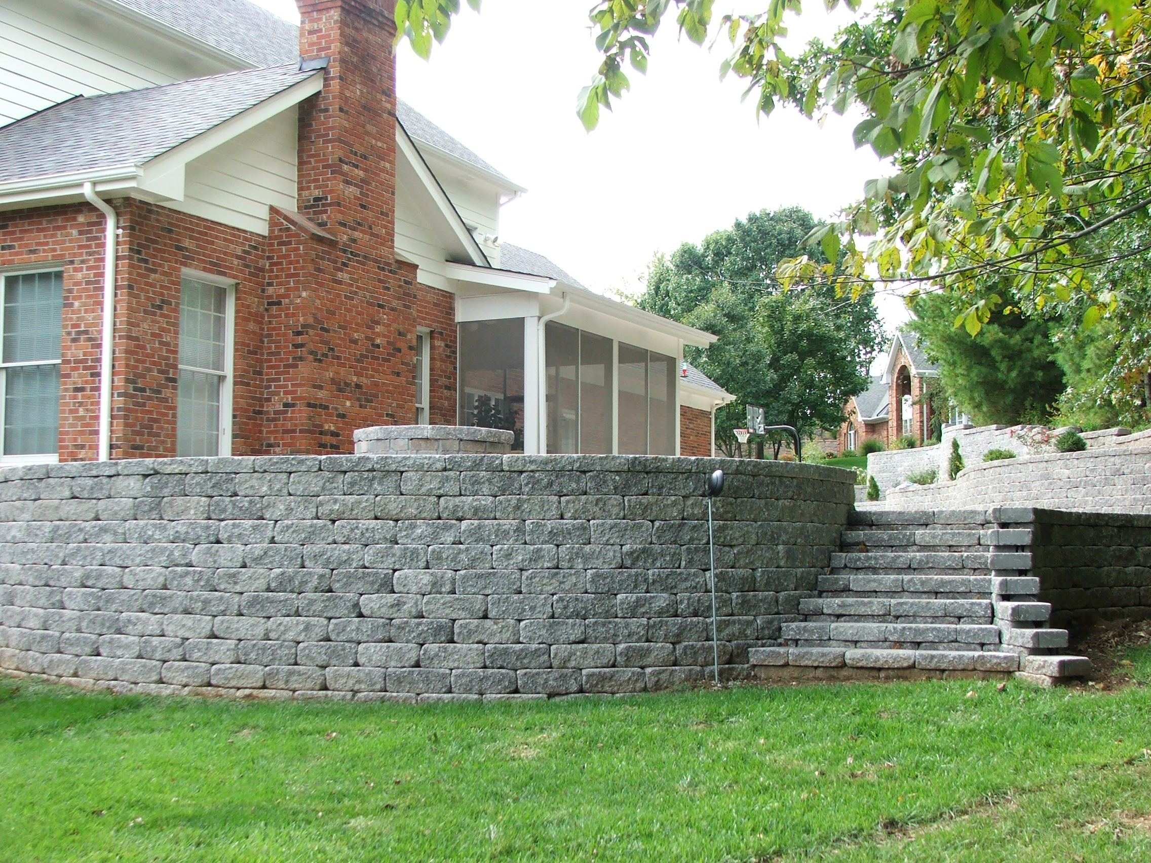 Cinder Block Stairs Retaining Wall Steps Album 4
