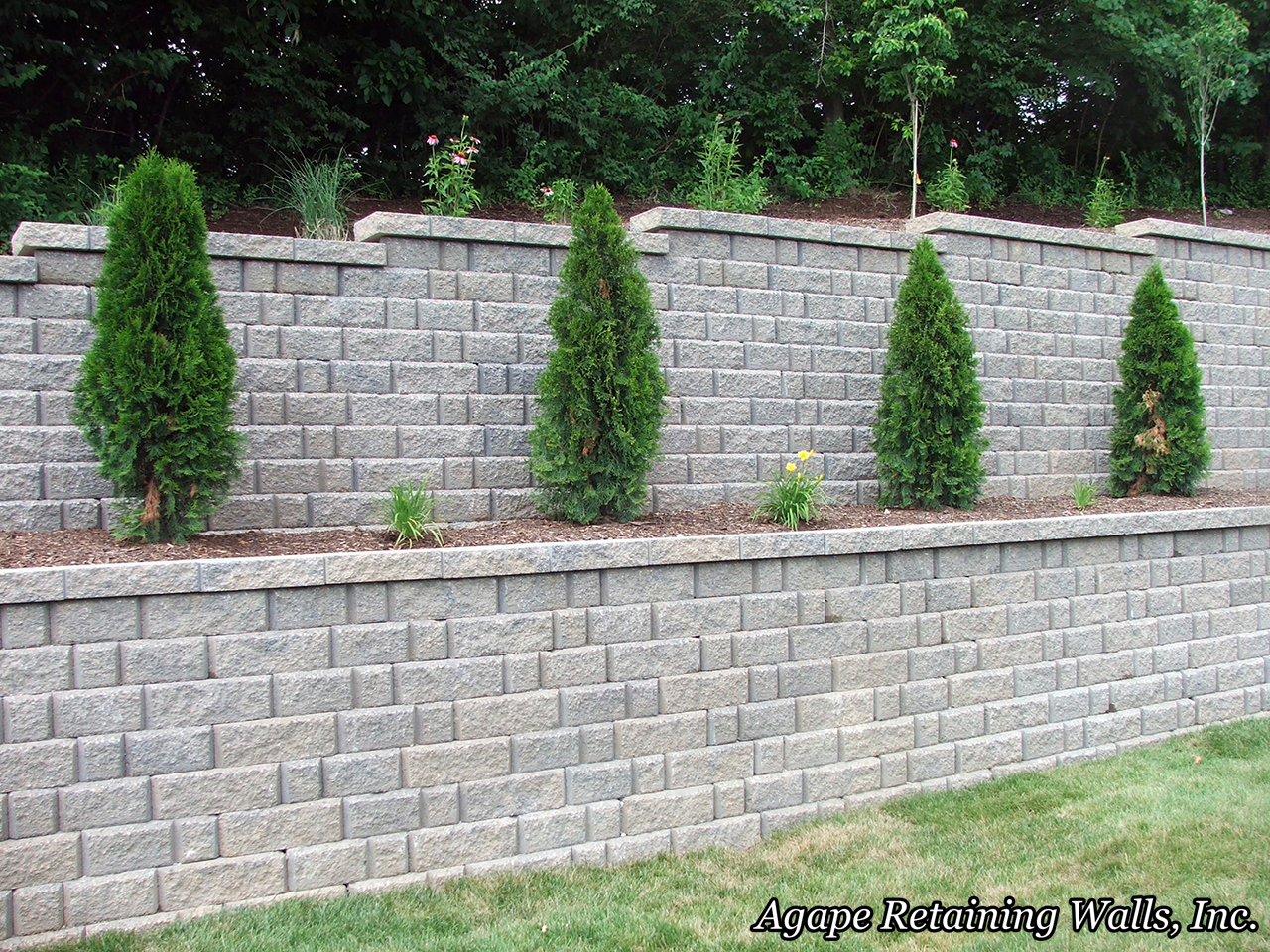 this hardscape designed and installed by agape retaining walls inc in oakville mo is also included in my top ten agape retaining walls inc design and
