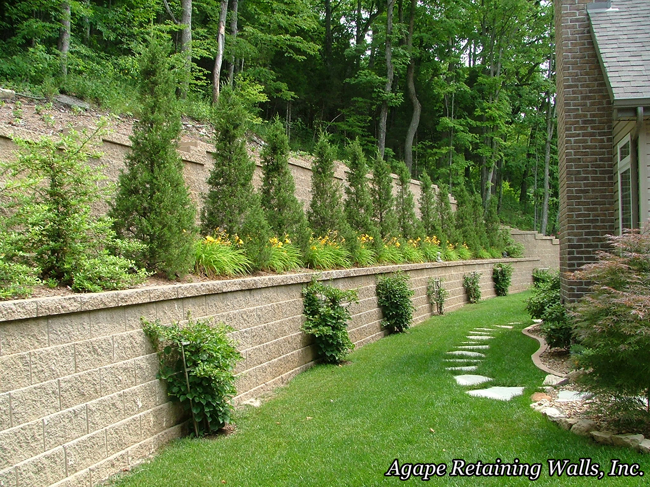 Backyard Retaining Wall Designs Plans Enchanting Railway Sleeper Landscaping Ideas Retaining Wall Ideas Wooden . Inspiration Design