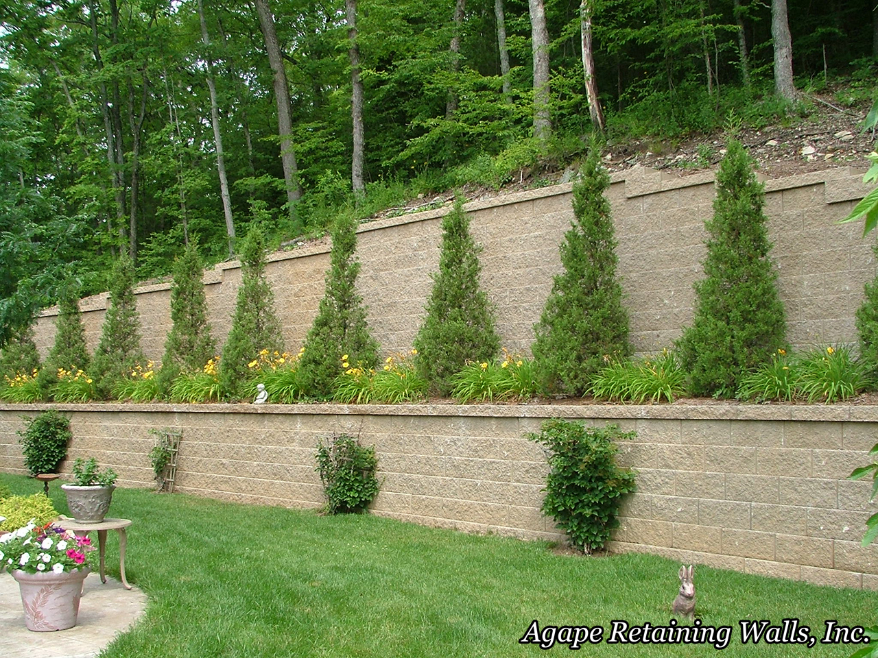 agape retaining walls inc terrace photo album 2 - Segmental Retaining Wall Design 2