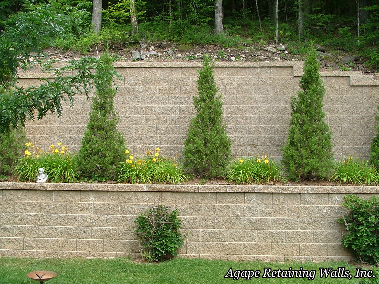 When I Say That We At Agape Retaining Walls, Inc. Are U201csimply The Bestu201d  This Job States My Case As Well As Any. Our Retaining Wall Design And  Installation ...