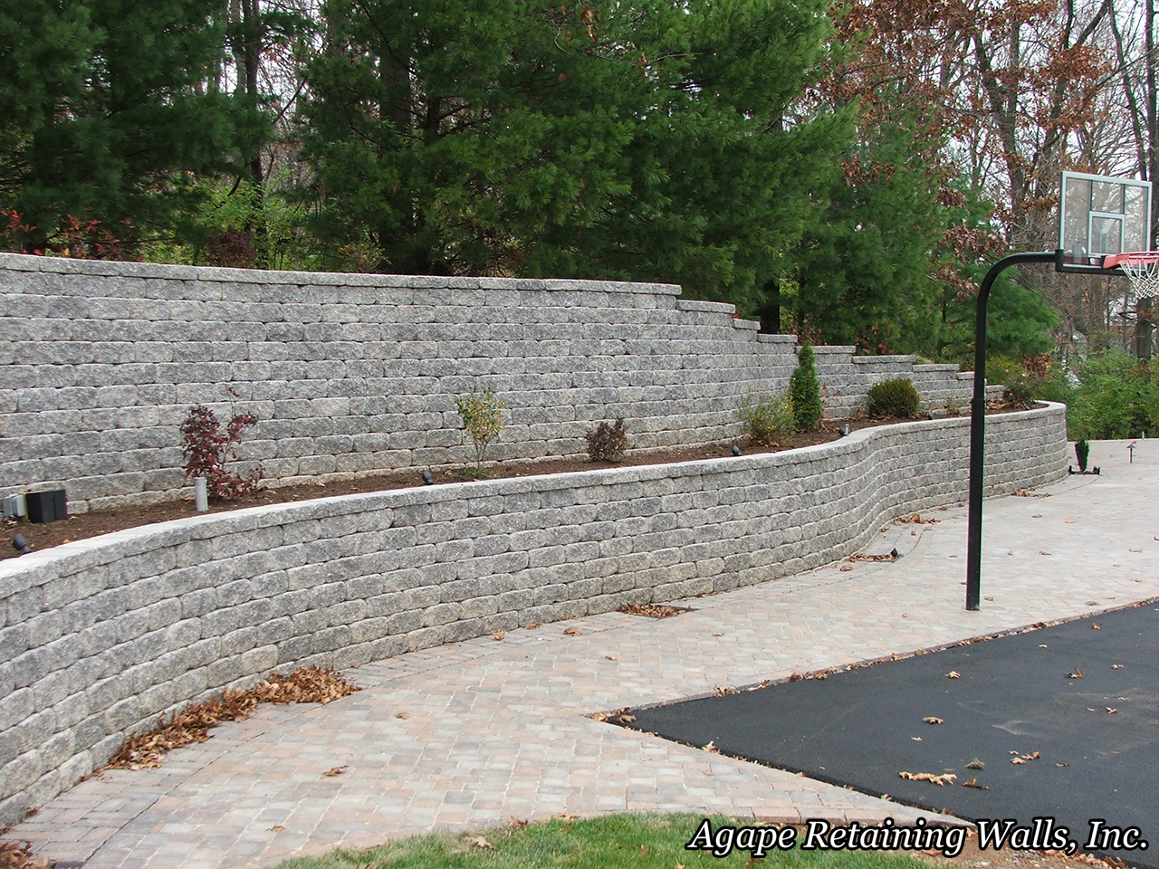 Agape retaining walls inc terrace photo album 1 for Terrace wall design ideas