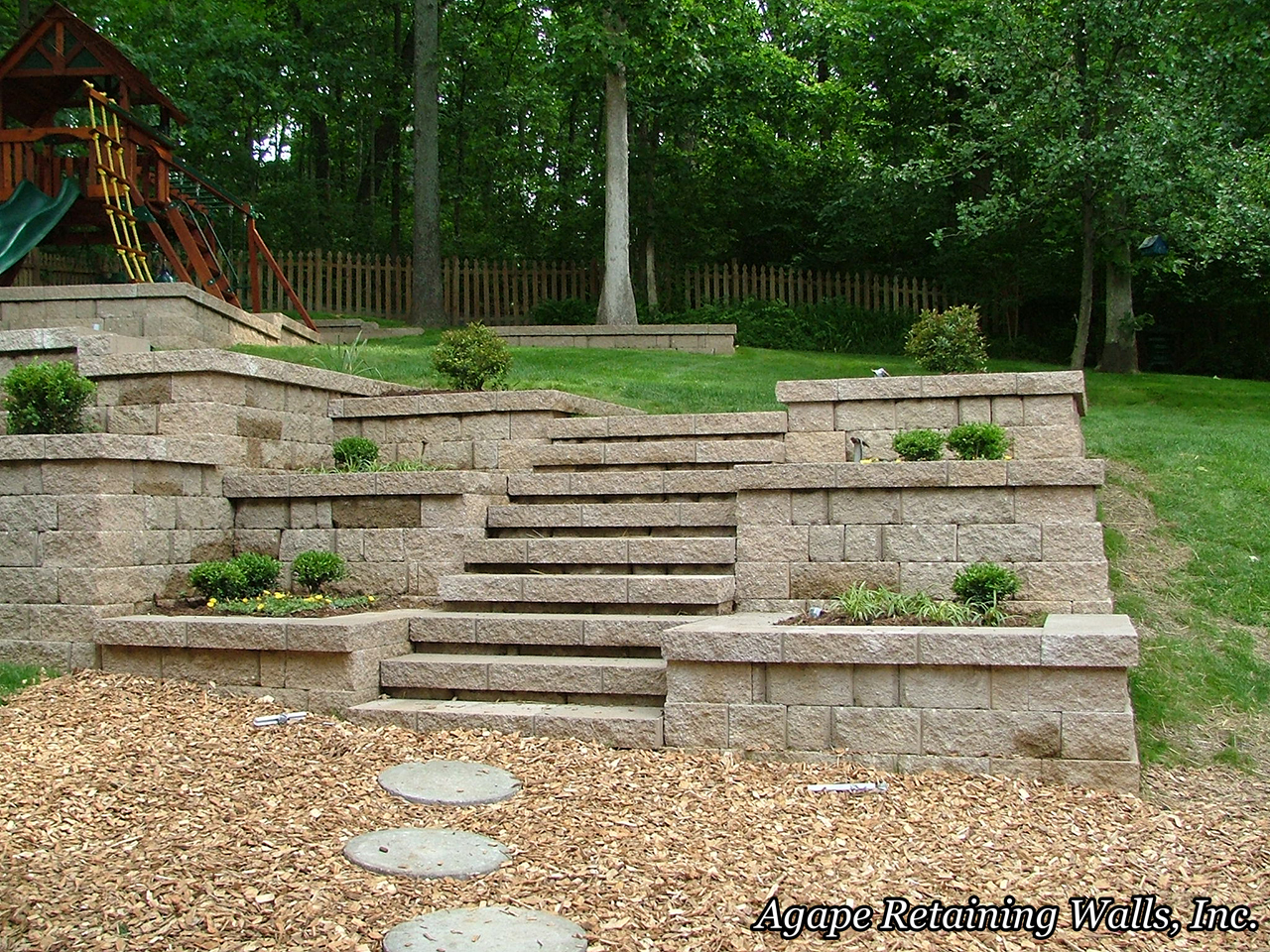 backyard landscaping ideas retaining walls backyard design - Retaining Walls Designs