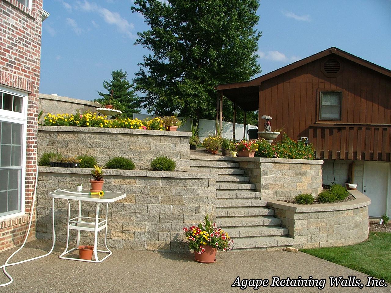 agape retaining walls inc terrace photo album 1