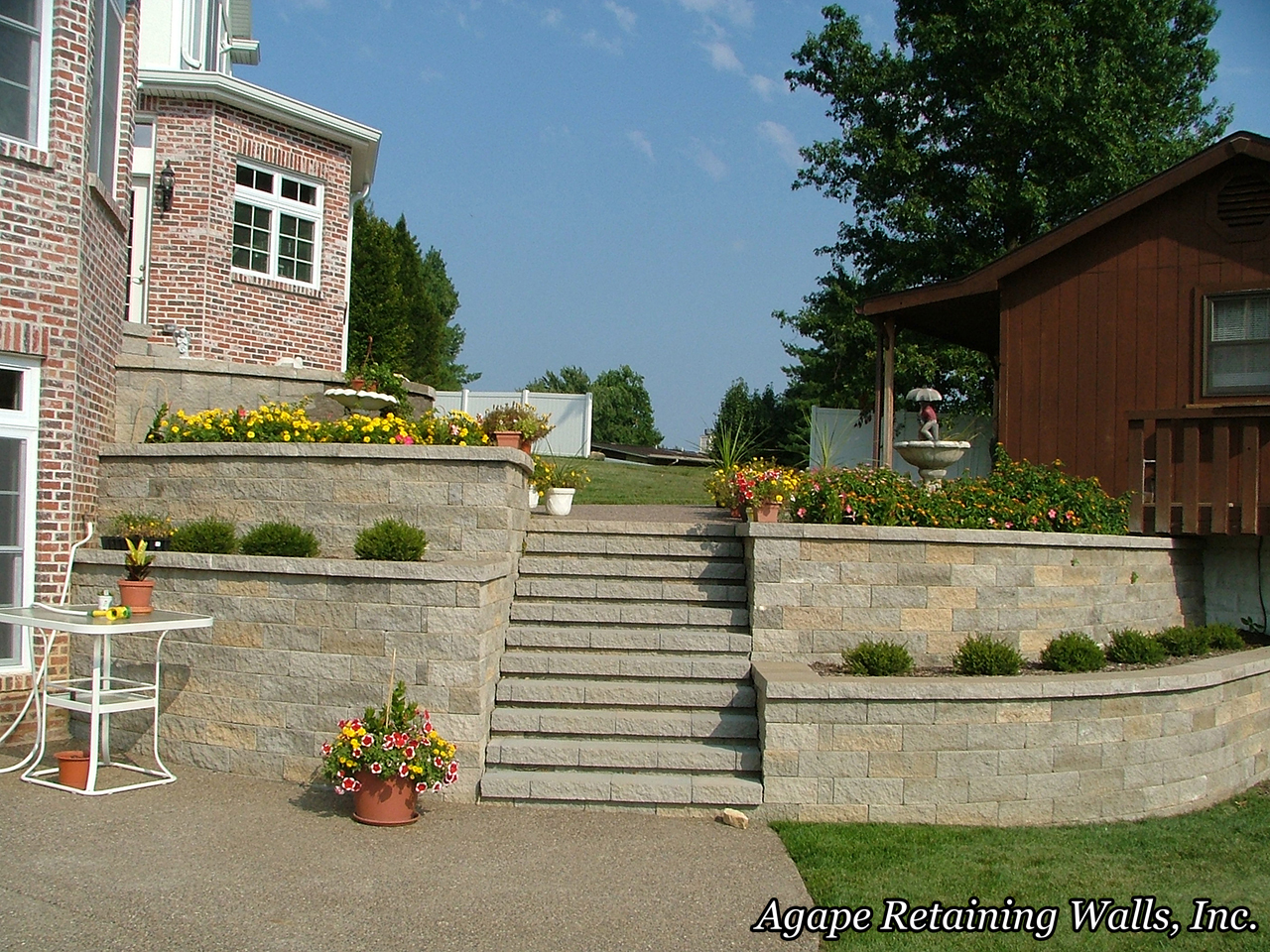 the best retaining wall and paver installation with the best retaining wall and paver design that is what you get when you hire agape retaining walls